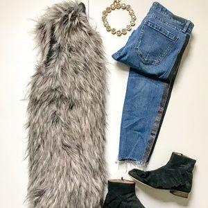 Matty M Long Faux Fur Vest
